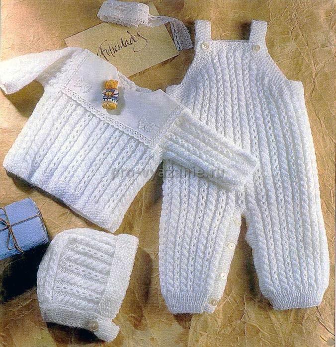 Вяжем спицами комплект для новорожденного