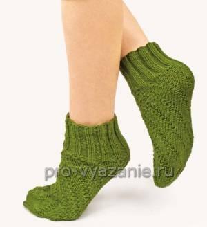 Вязание носков по спирали