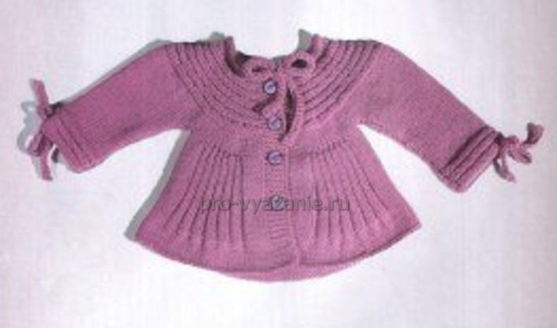 Детская кофточка спицами для девочки