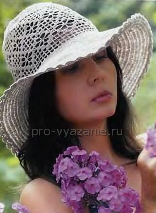 Вязание летней женской шляпки крючком